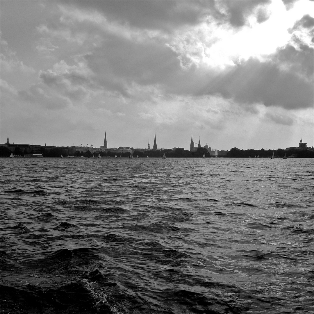 Hamburg - Binnenalster am 28.9.2012
