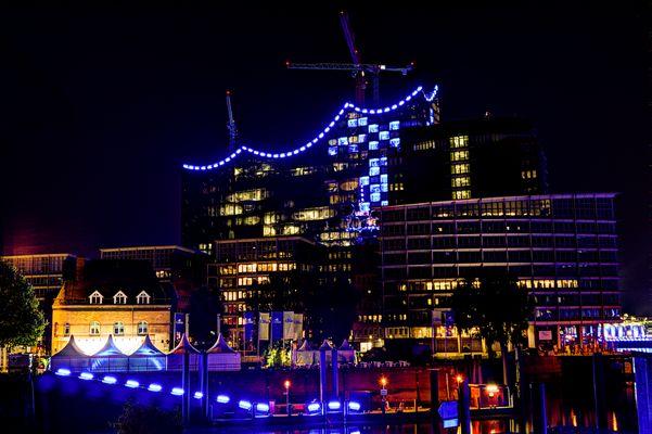 Hamburg Blue Port 2014 (Elbphilharmonie Rückseite)