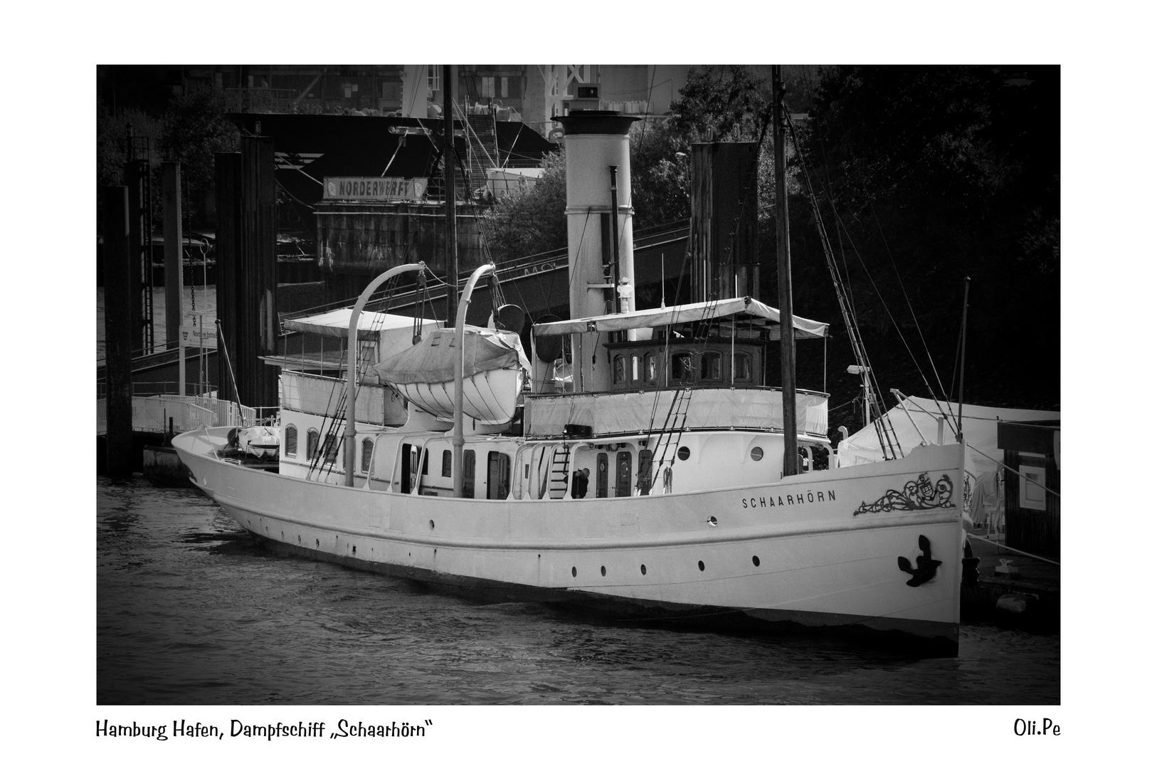 Hamburg Hafen Dampfschiff Schaarhörn
