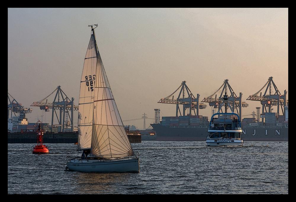 Hamburg - Hafen - Segelschiff