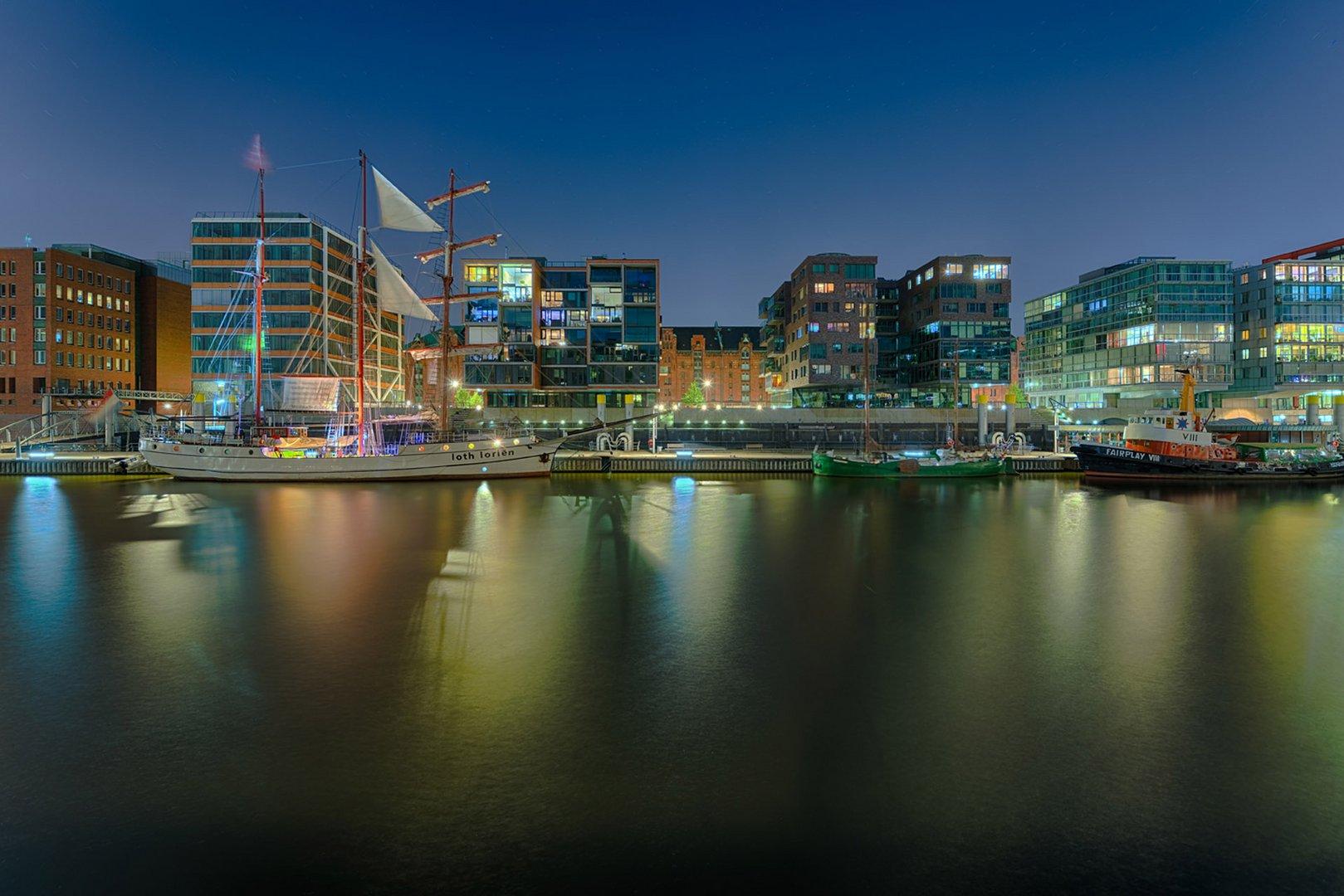 Hamburg HafenCity Nacht