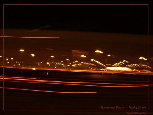 Hamburg Harbour Night Drive