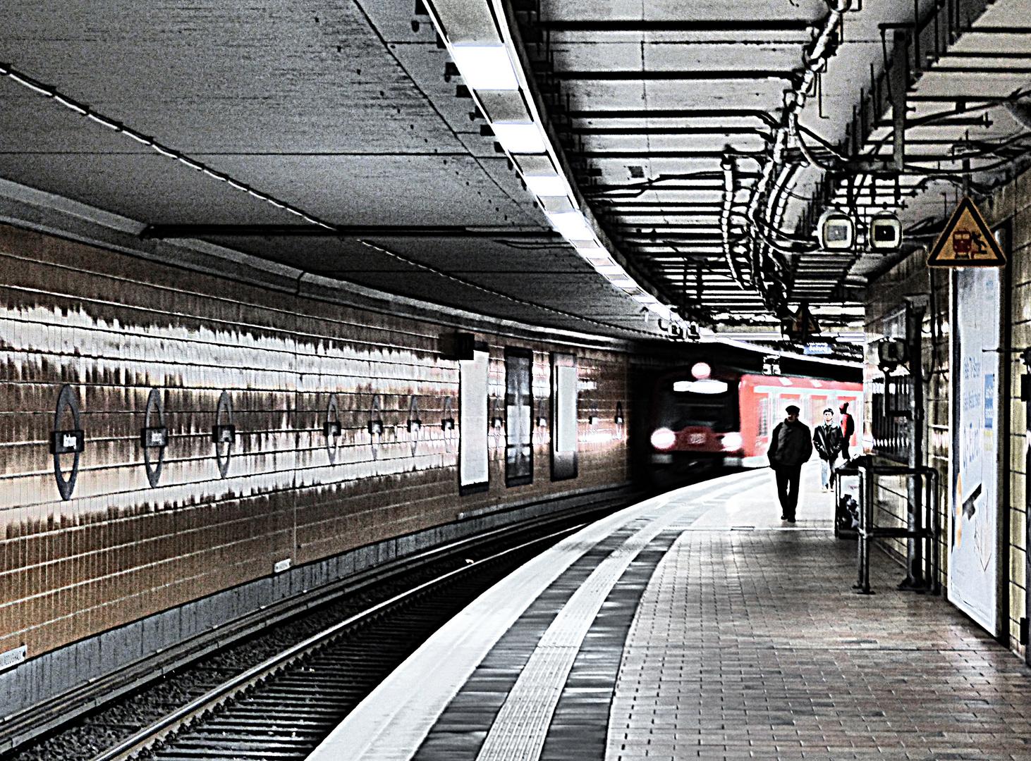 Hamburg Harburg Zugeinfahrt