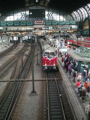Hamburg Hauptbahnhof Gleis Acht