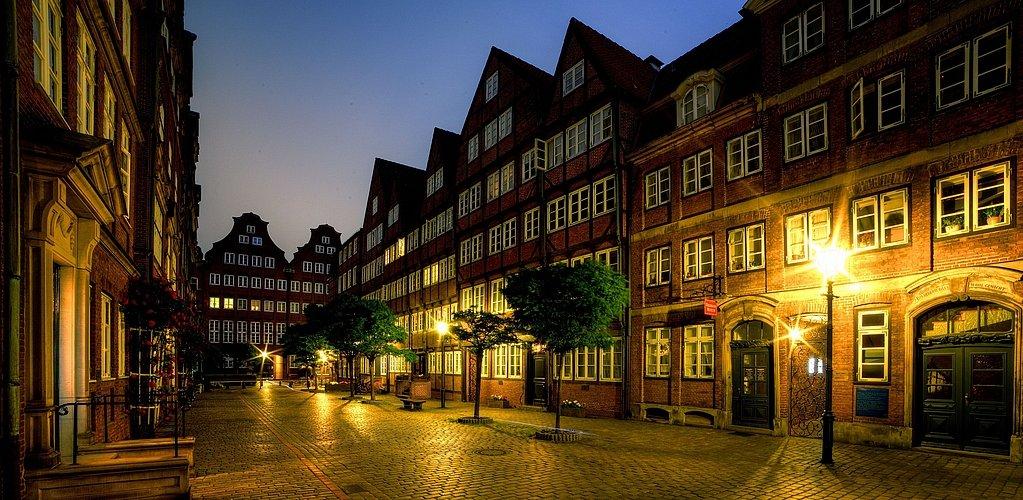 Hamburg Impressionen - Barockhäuser in der Peterstrasse