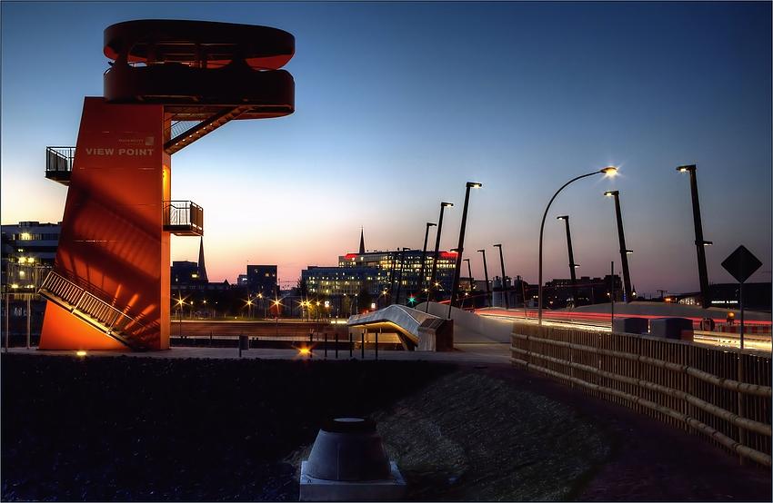 Hamburg Impressionen - View Point an der Baakenhafenbrücke