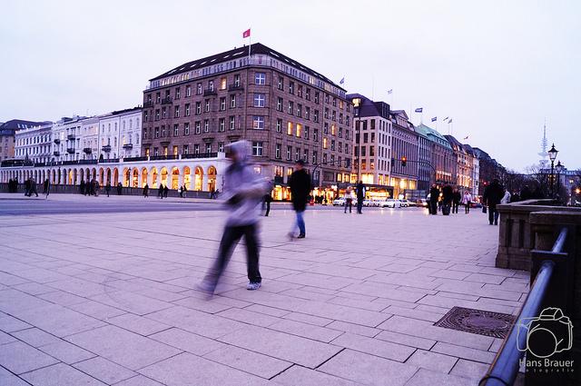 Hamburg in der Dämmerung