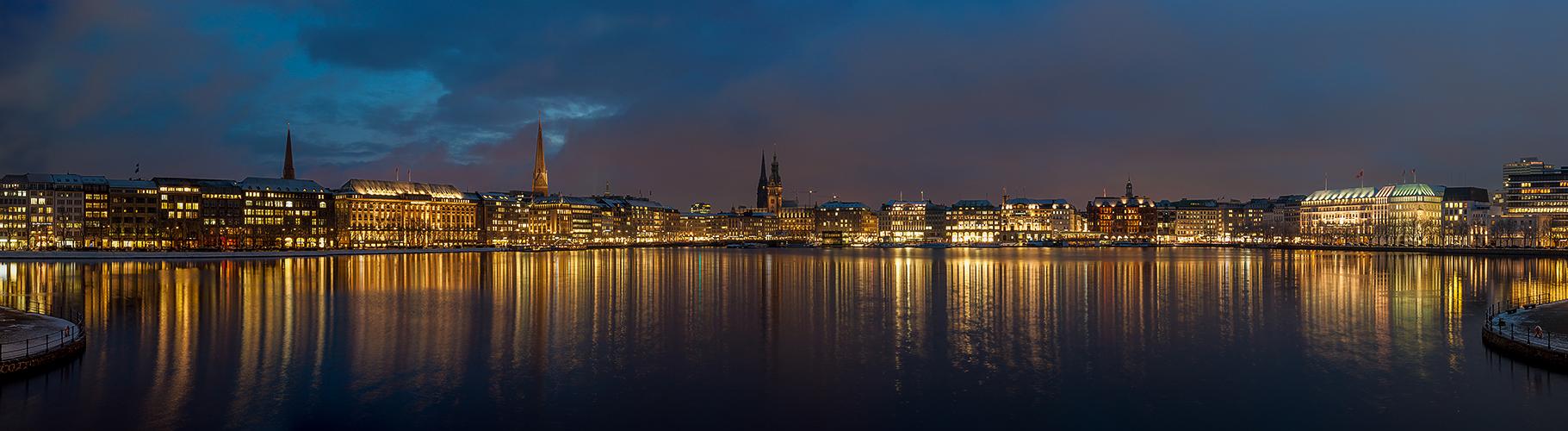 Hamburg - Jungfernstieg Panorama