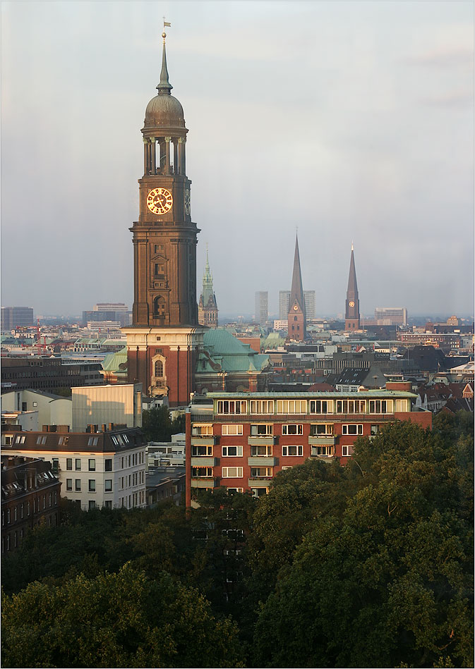 "Hamburg: ""Michl"" at summer sunset light"
