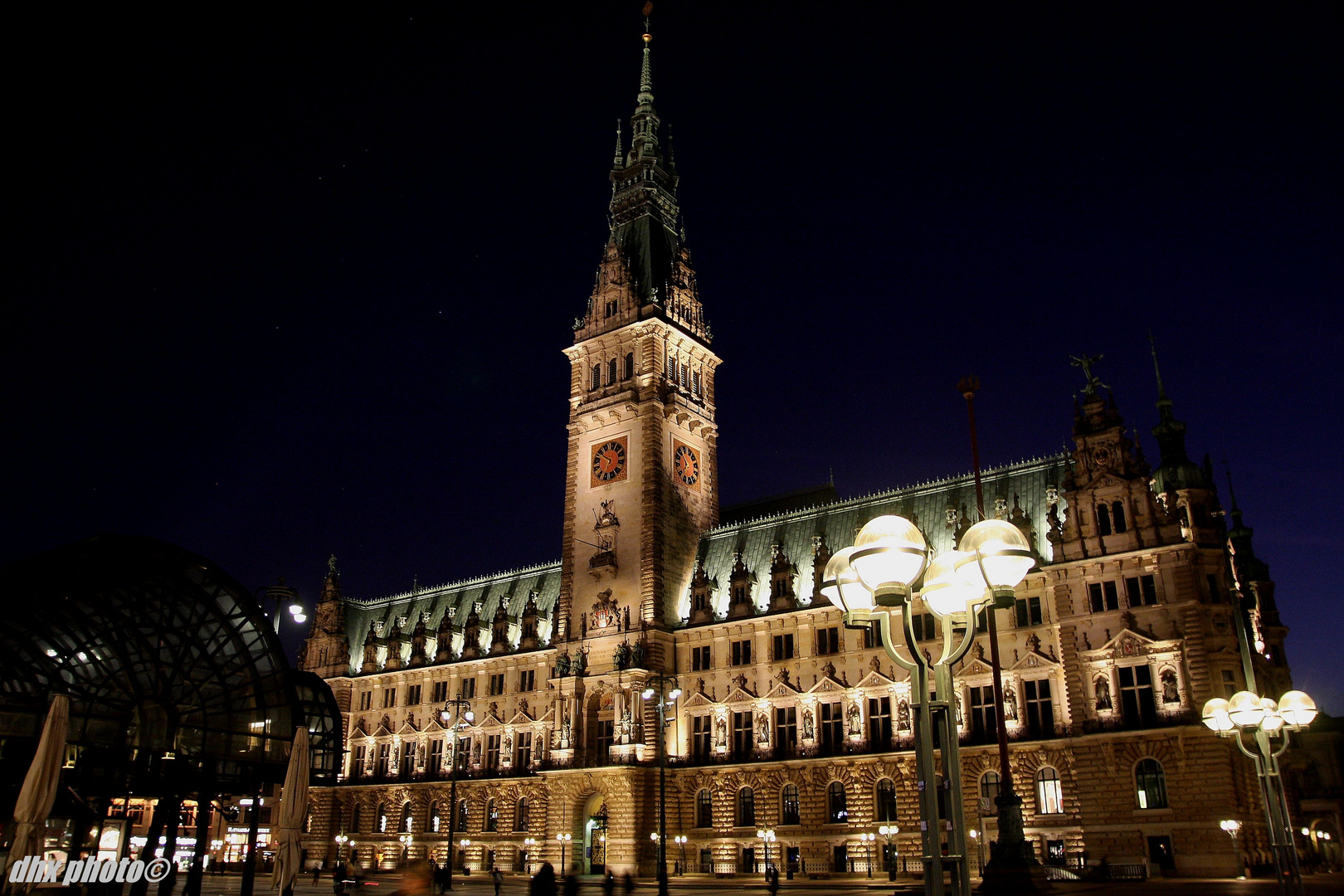 Hamburg Rathaus im März - Hamburg City Hall