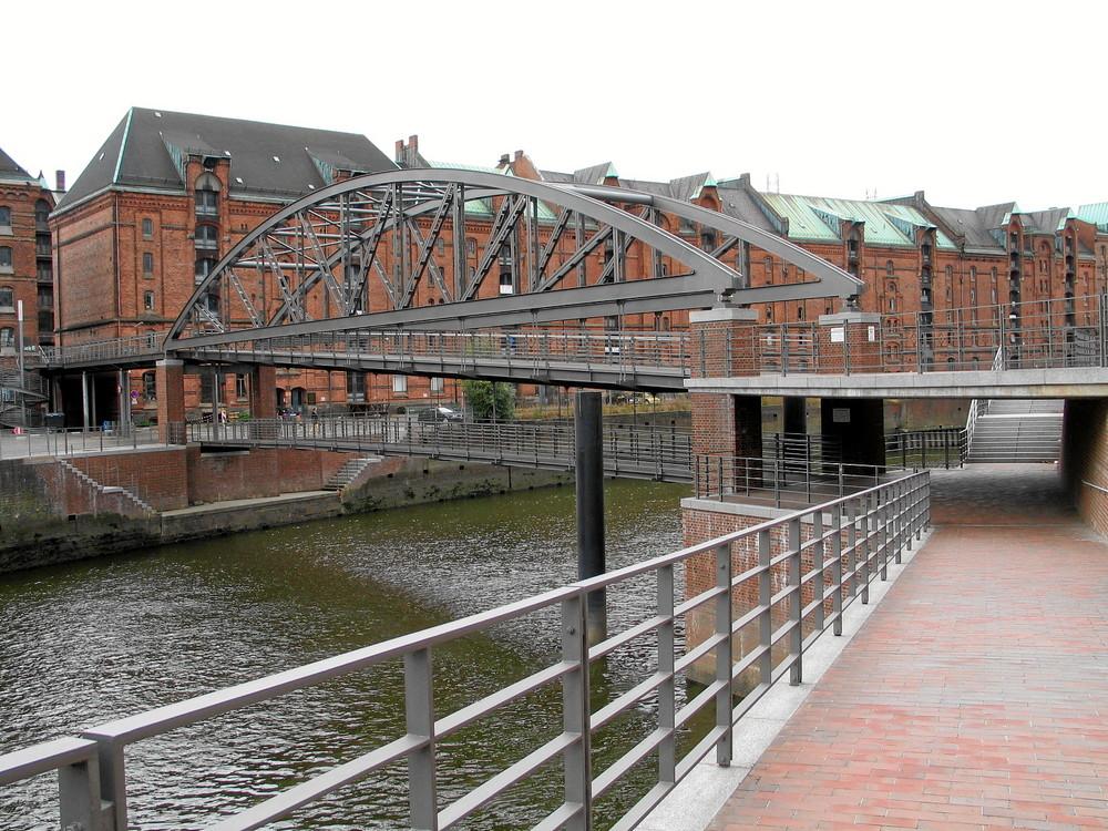 Hamburg Speicherstadt Brücke Kibbelsteg