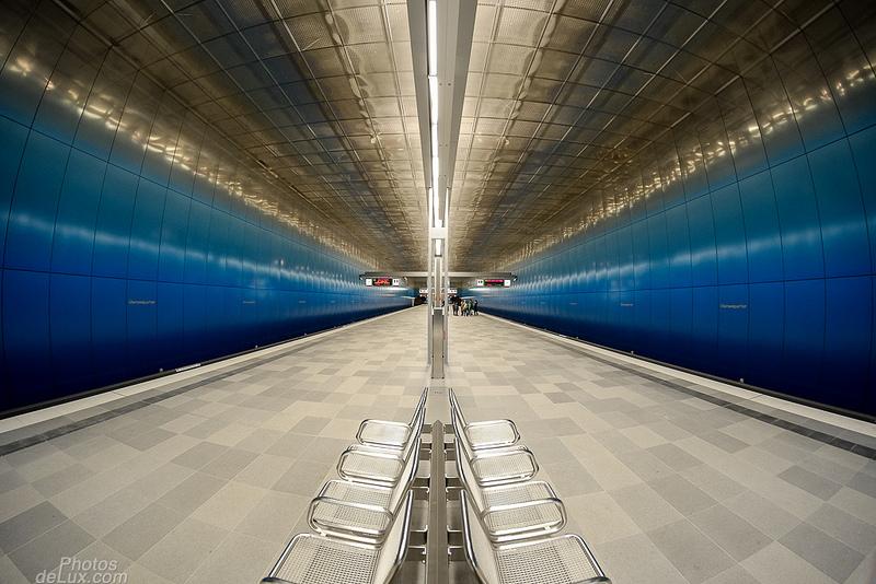 Hamburg - U4 Überseequartier Bahnsteig 180°