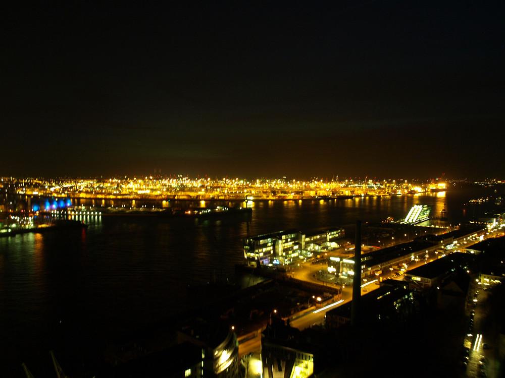 Hamburger Hafen am Abend 1