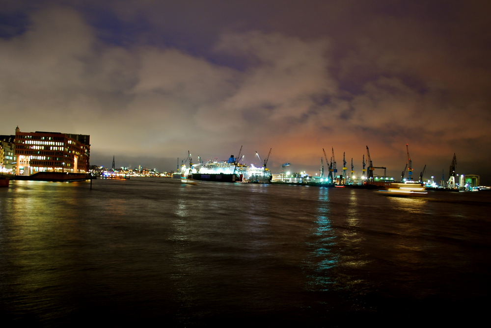 Hamburger Hafen - Disney Dream im Dock von Blohm & Voss