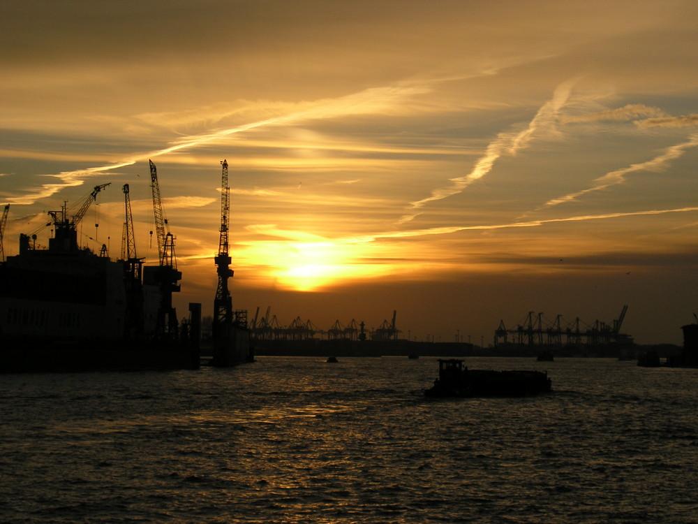 Hamburger-Hafen im Februar 2008