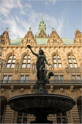 Hamburger Rathaus - Rückansicht