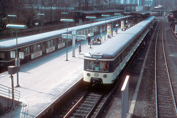 Hamburger S-Bahn Blankenese 1978
