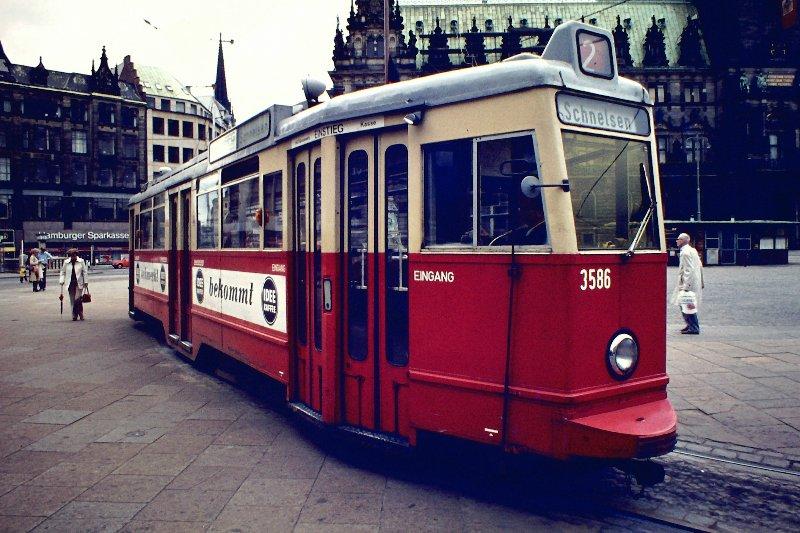 Hamburger Straßenbahn um 1975
