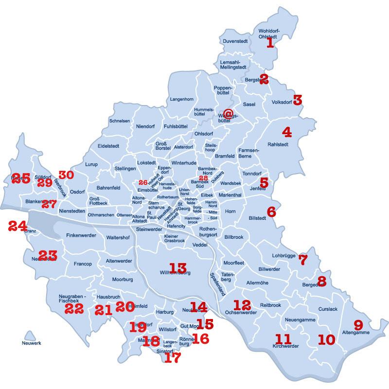 Hamburgteile - die ersten 30