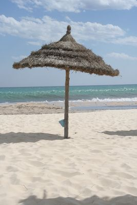 "Hammamet 2008, Strand vor dem Hotel ""Paradise Palace"""