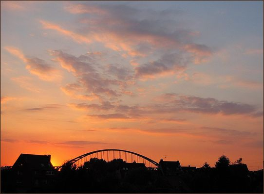 Hammer Eisenbahnbrücke in Düsseldorf