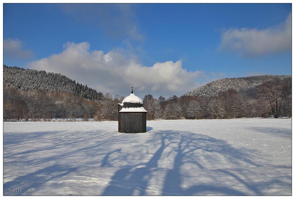 Hammerscheune im Schnee