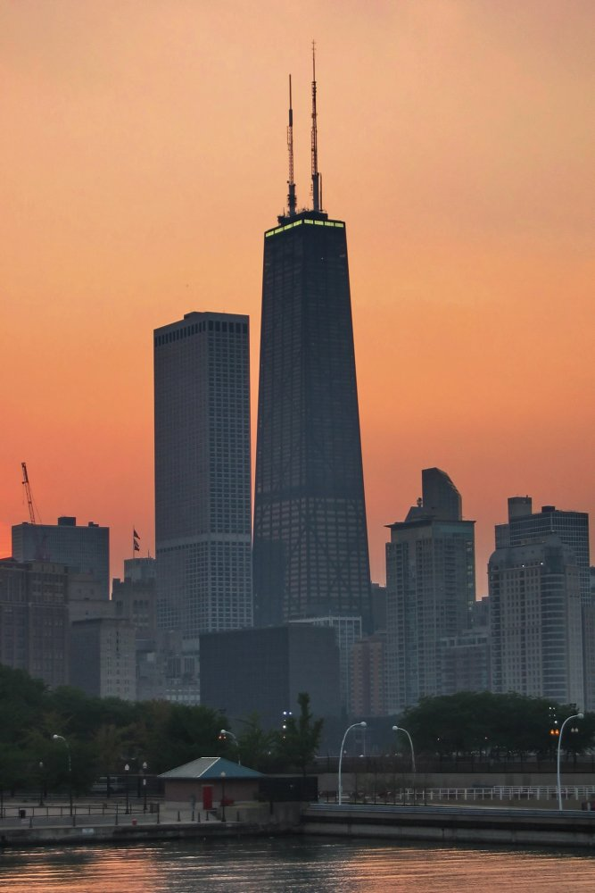 Hancock Tower Sunset