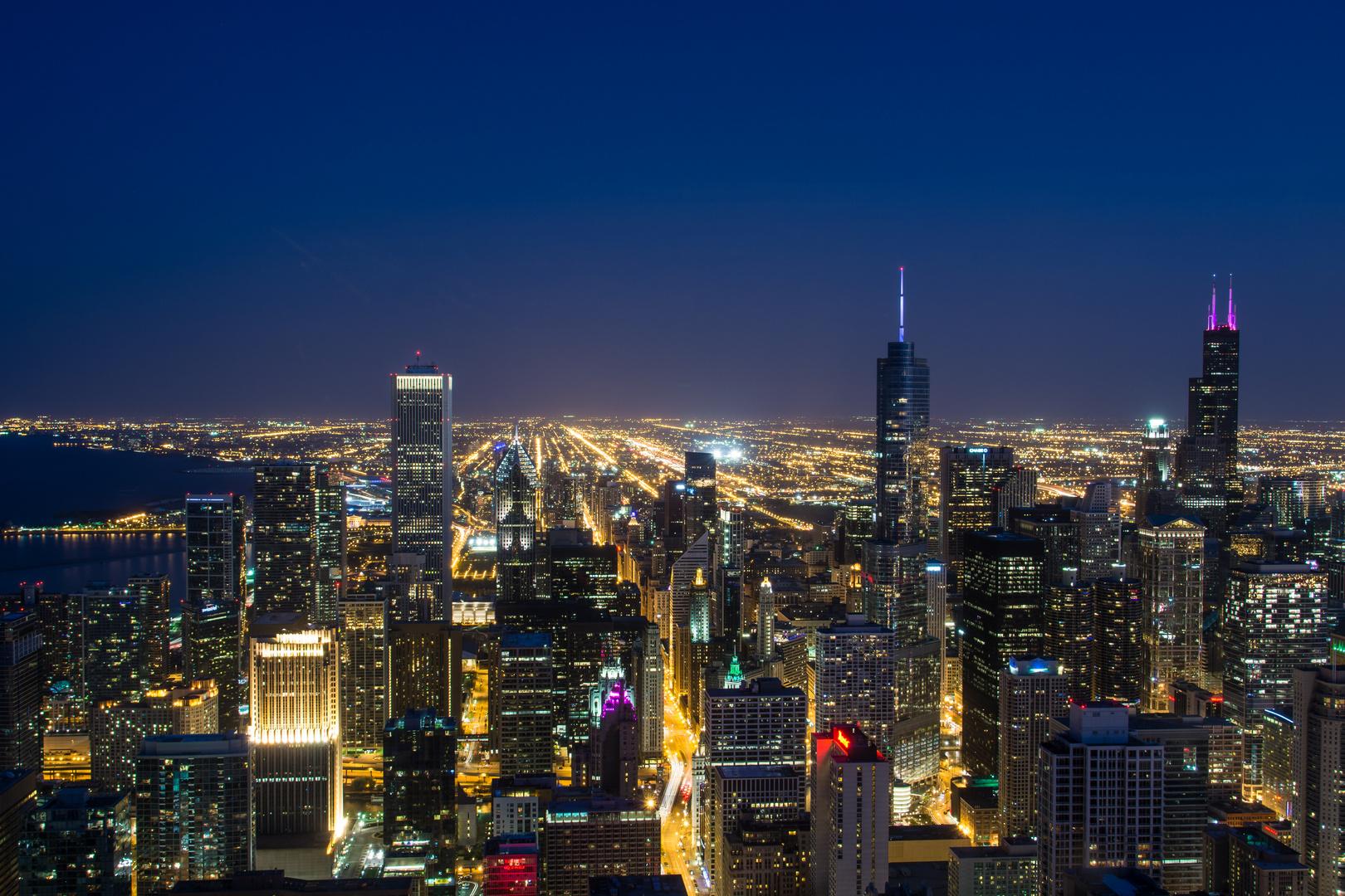 Hancock Tower View Night