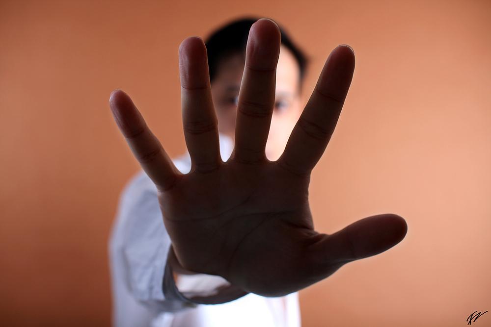 Hands off...