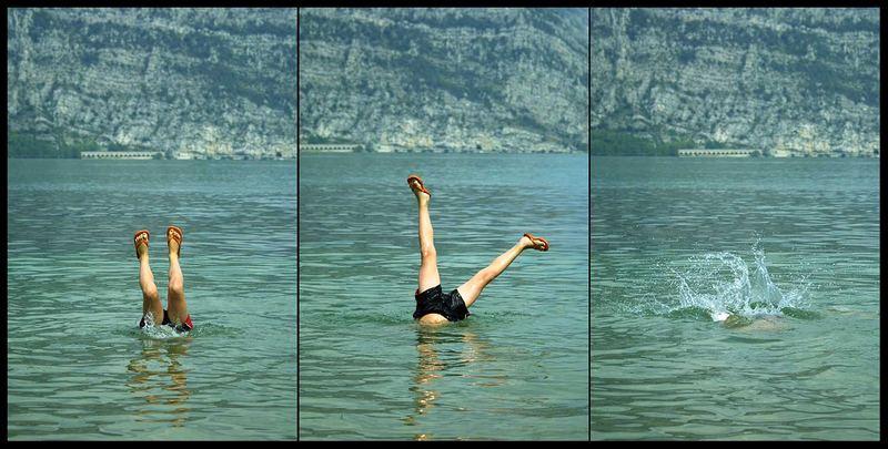 Handstand im Wasser
