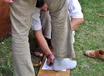 Handvermessene Schuhe im Mittelalter