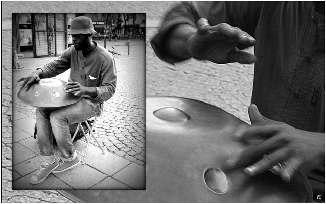 Hang drummer, à Paris...