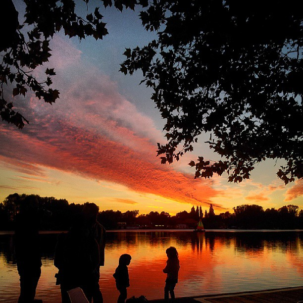 Hannover Maschsee Sonnenuntergang
