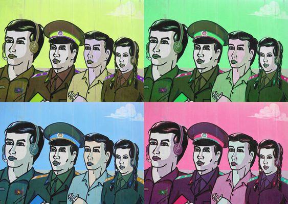 Hanoi - Gia Lam Airbase - Propaganda Poster