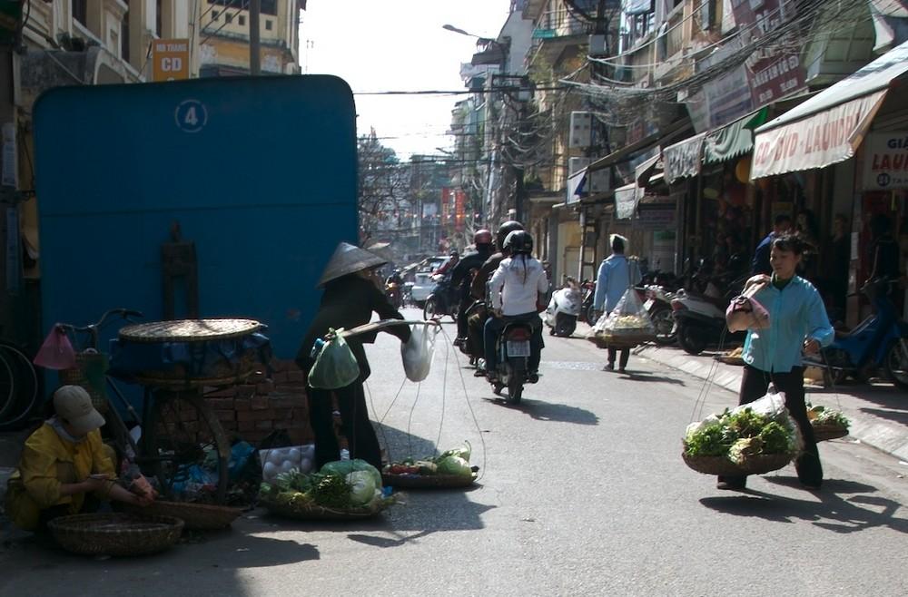 Hanoi-Strassenverkäuferinnen