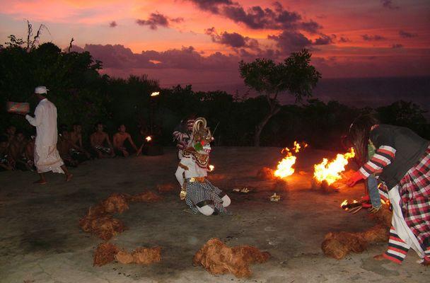 Hanoman kurz vor dem Feuer