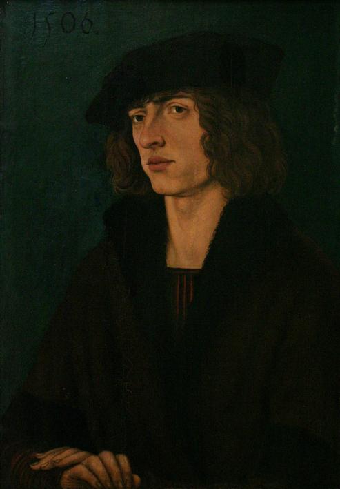 Hans Burgkmair der Ältere: Bildnis eines jungen Mannes (1506)