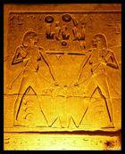 Hapi du nord et Hapi du sud nouant les fleurs de lotus et de papyrus