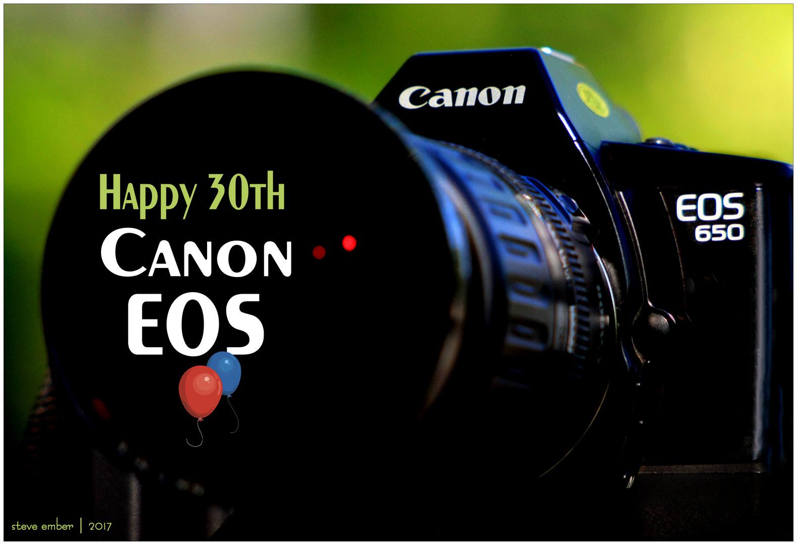 Happy 30th, Canon EOS!