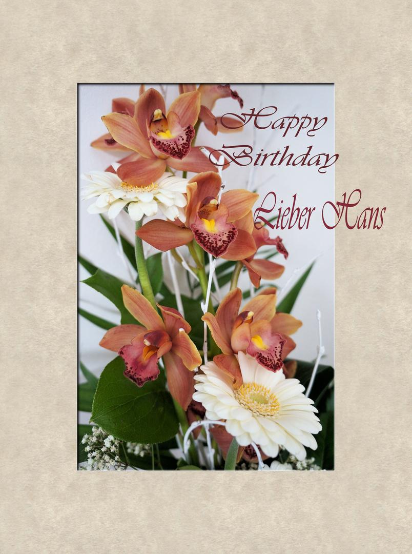 Happy Birthday lieber Hans
