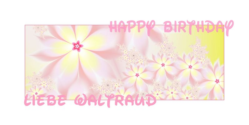 happy birthday waltraud
