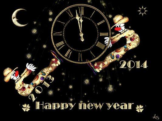 Happy New Year, Glückliches neues Jahr, Gelukkig Nieuwjaar. Bonne Année, Prospero Ano Nova