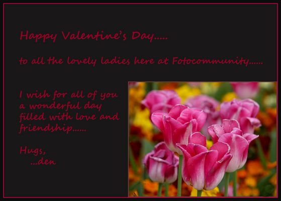 Happy Valentine's Day.....