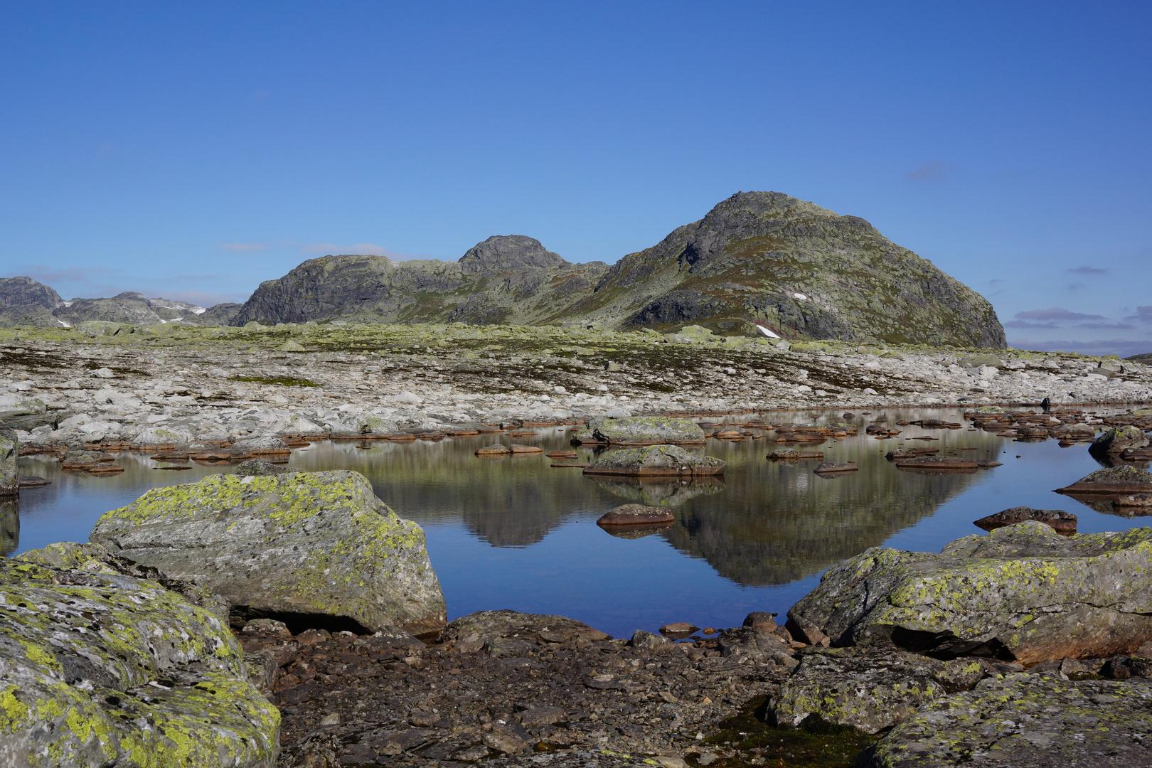 Hardangervidda, zwischen Haukeliseter und Hellevasbu
