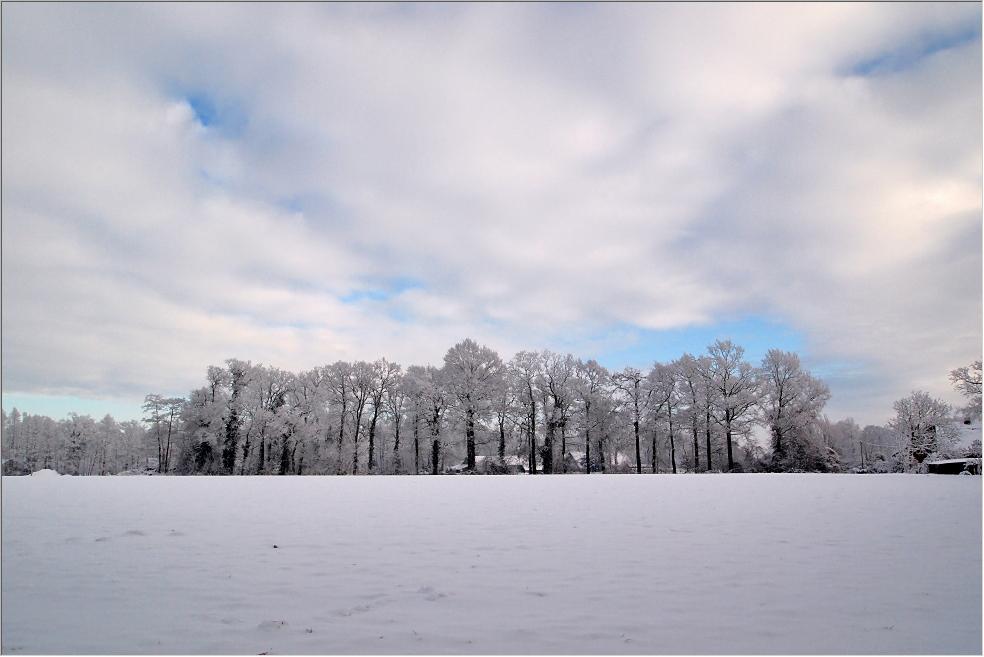 """Hardinger Winterbilder: Blick über den? """"Mellöh"""" zu unserer alten Hofzufahrt"""