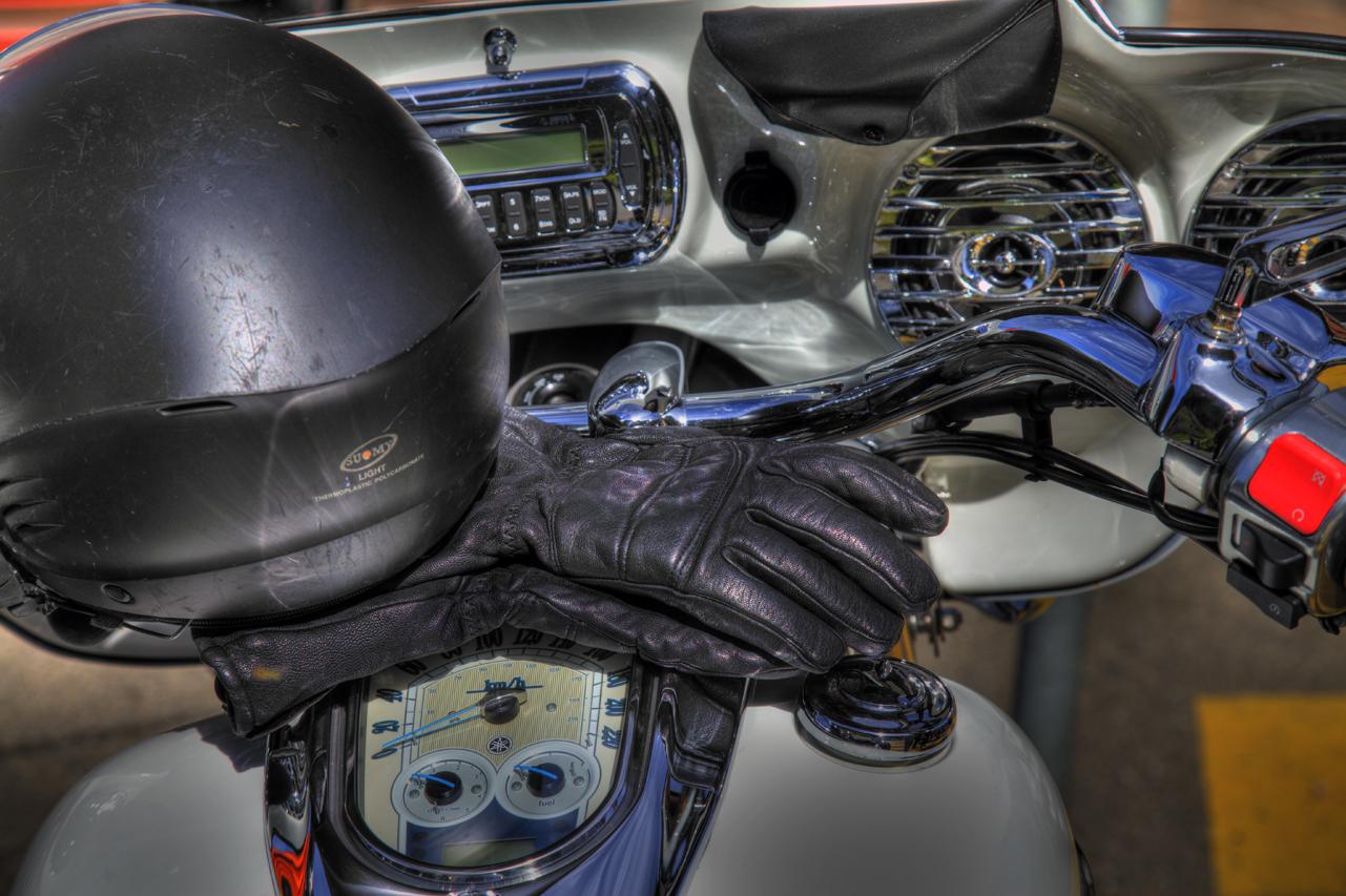 Harley Davidson Fahrt-Rast