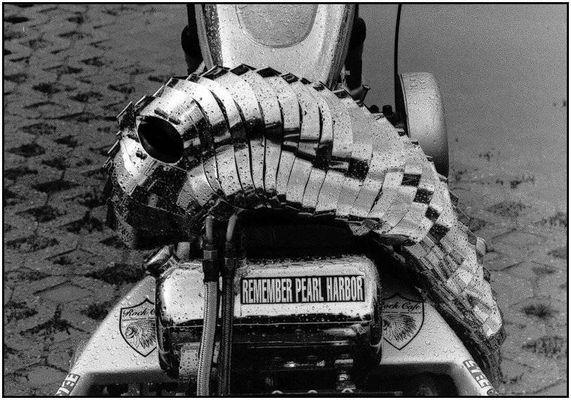 Harley Davidson mit Helm