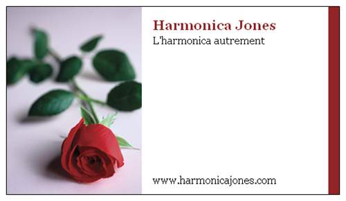 Harmonica Jones - Carte de visite officielle - 2010