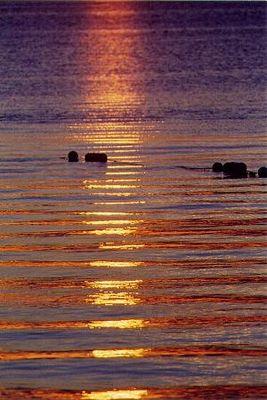 Harmonie,wenn die Sonne im Meer Schlafen geht