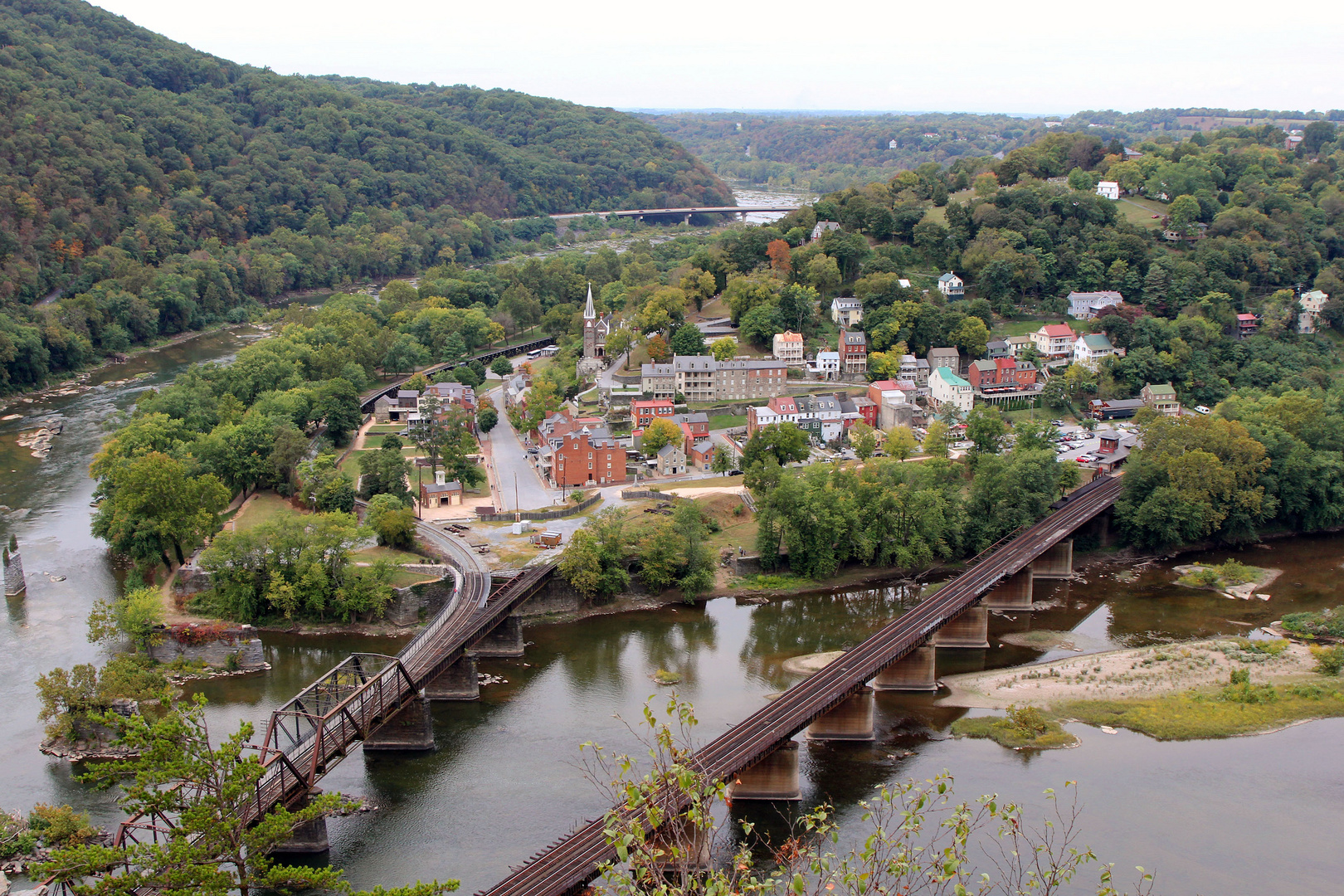 Harpers Ferry am Potomac River, West Virginia, USA